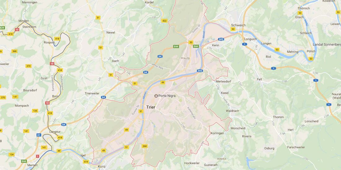 Karte Trier