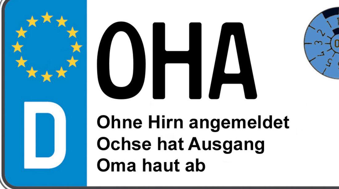 Kennzeichen-Bedeutung OHAOsterode/Harz
