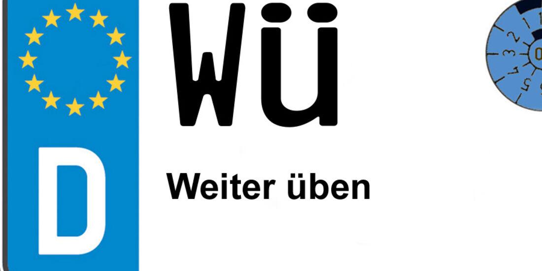 Kennzeichen-Bedeutung WÜ Würzburg