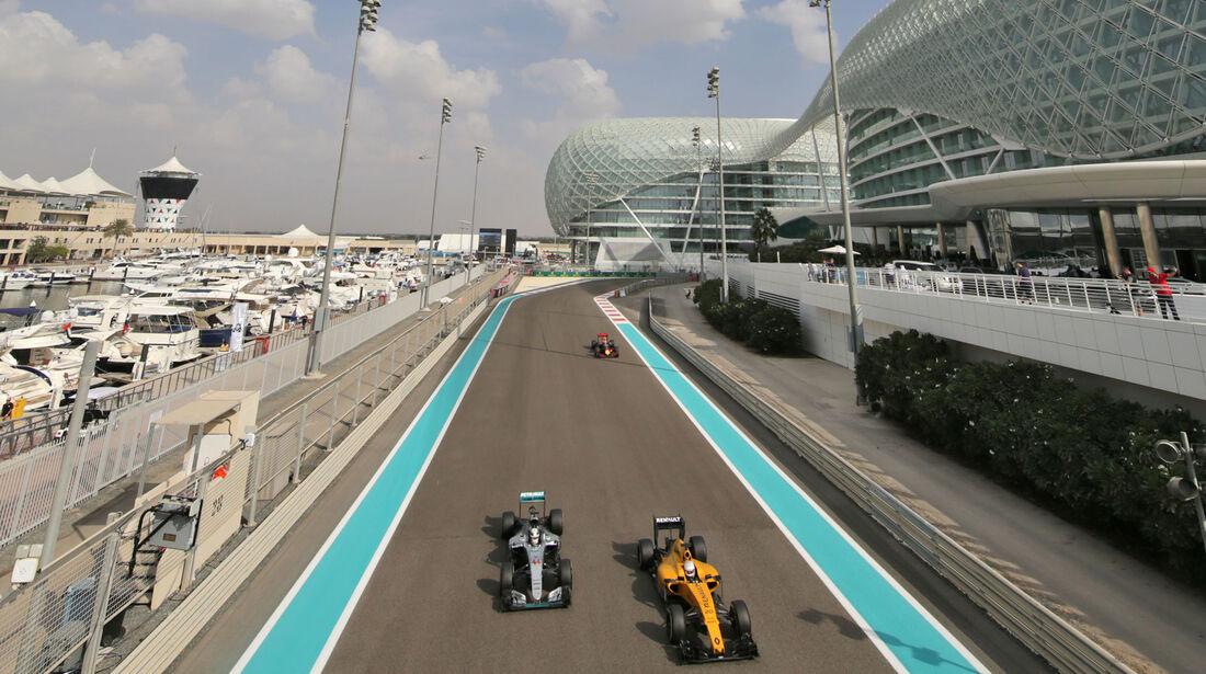 Kevin Magnussen & Lewis Hamilton - Formel 1 - GP Abu Dhabi - 25. November 2016