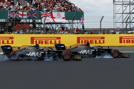 Kevin Magnussen & Romain Grosjean - Haas - GP England 2019