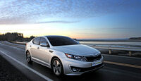 Kia Optima Hybrid, Frontansicht, links