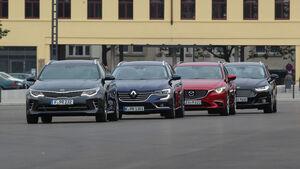 Kia Optima, Renault Talisman, Ford Mondeo Turnier, Mazda 6