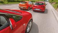 Kia Procee'd, Opel Astra GTC, Seat Leon SC, Heckansicht