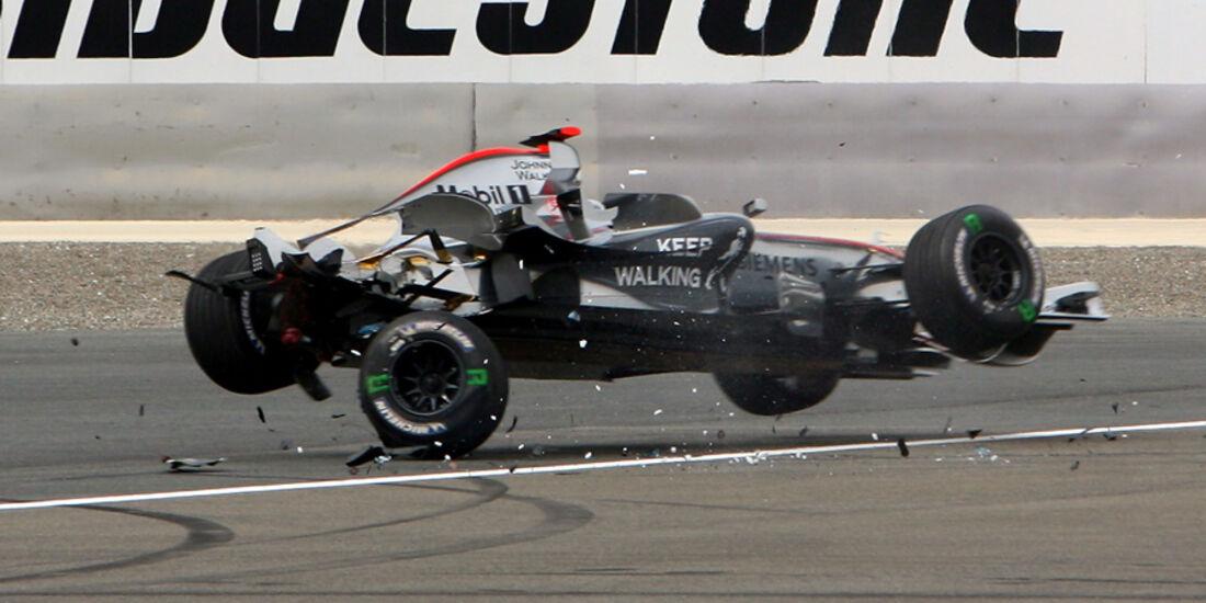 Kimi Räikkönen Crash
