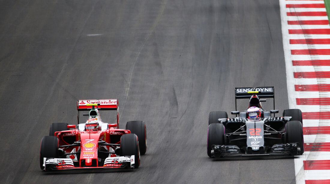 Kimi Räikkönen - Jenson Button - Formel 1 - GP Österreich - 3. Juli 2016