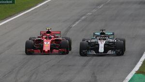Kimi Räikkönen - Lewis Hamilton - Mercedes - Ferrari - GP Italien - Formel 1 - 2. September 2018