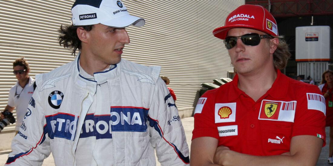 Kimi Räikkönen Robert Kubica Formel 1 2009