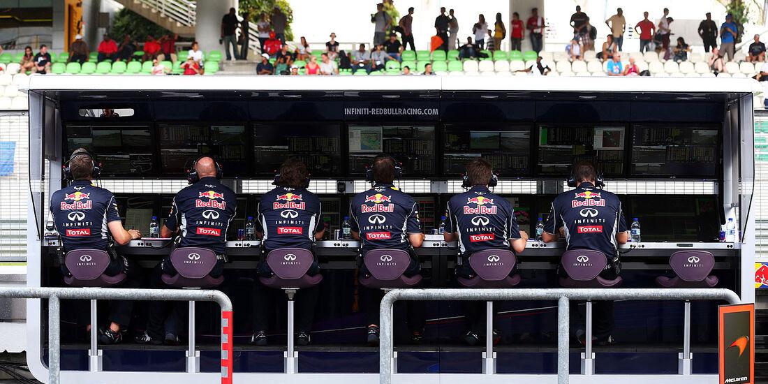 Kommandostand - Red Bull - Formel 1 - GP Malaysia - 22. März 2013