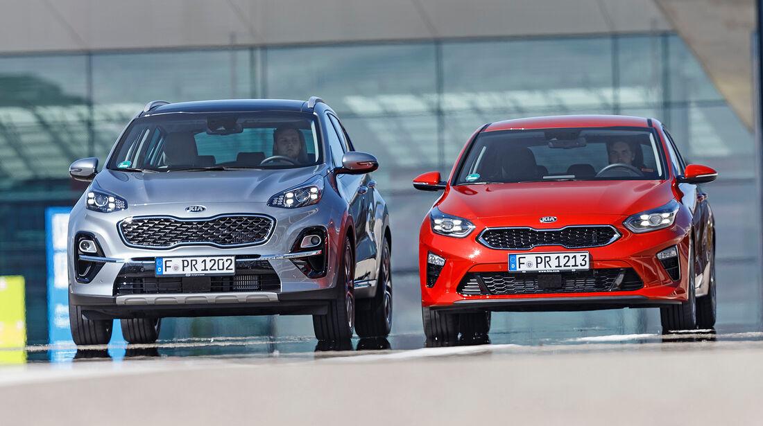Kompakt gegen SUV, Kia Ceed, Kia Sportage, Vergleich, ams2218