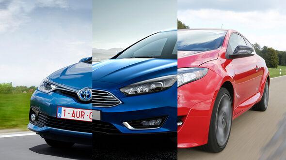 Kompaktklasse Gebrauchtwagen Collage Vergleich