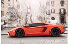 Lamborghini Aventador LP 700-4, Rom, Brunnen, Seitenansicht