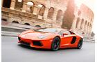 Lamborghini Aventador LP 700-4, Seitenansicht, Colloseum