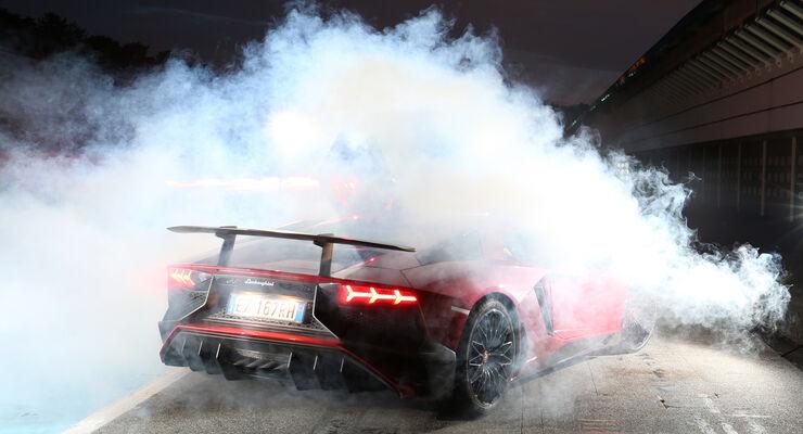 Lamborghini Aventador LP 750-4 Superveloce, Burnout