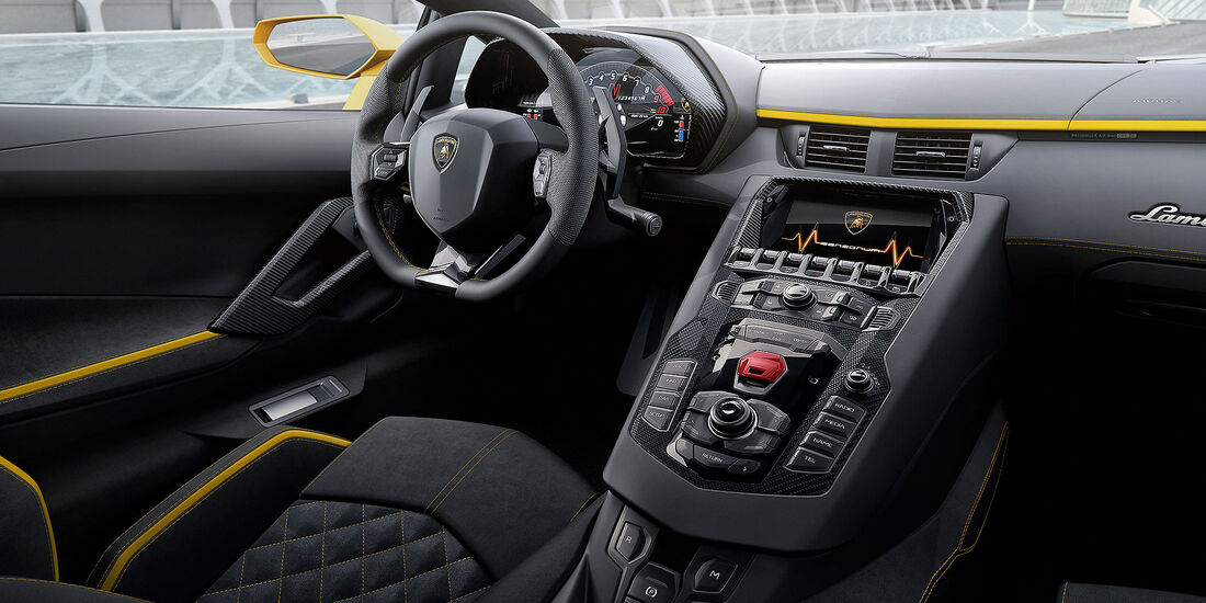 Lamborghini Aventador - Sportwagen - Lenkrad - Innenraum