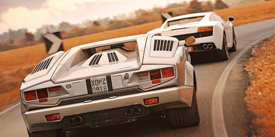Lamborghini Countach, Lamboghini Gallardo LP 550-2, Heckansicht