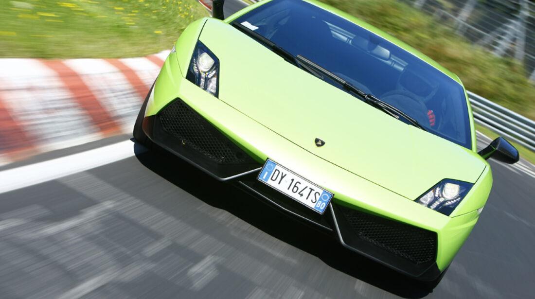 Lamborghini Gallardo LP 570-4 Superleggera, Frontansicht, Teststrecke