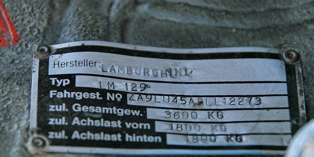 Lamborghini LM 002 Typenschild