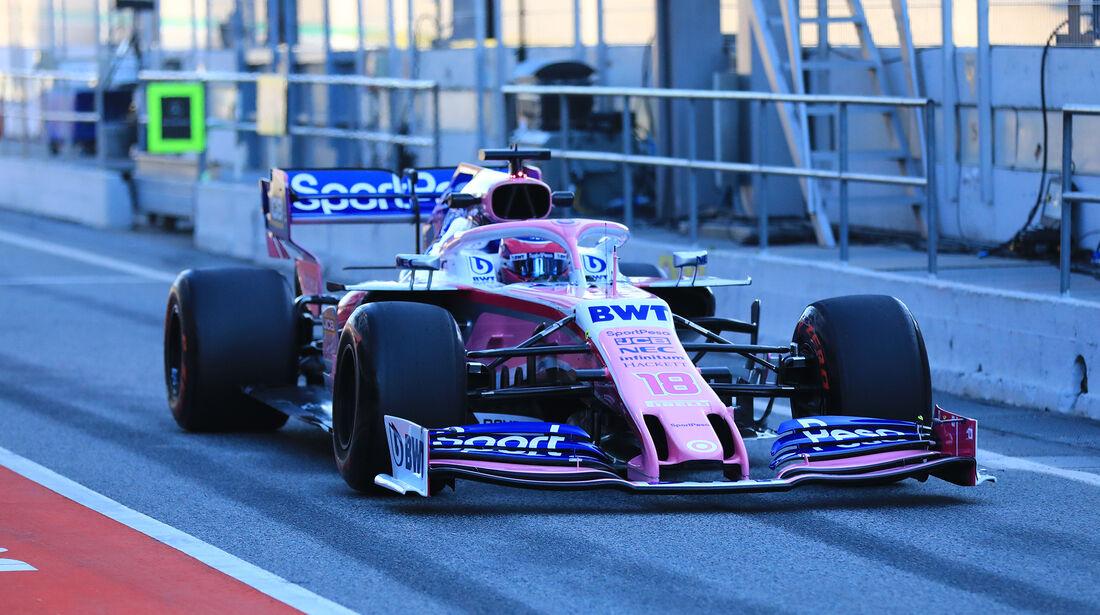 Lance Stroll  - Racing Point - Barcelona - F1-Test - 26. Februar 2019