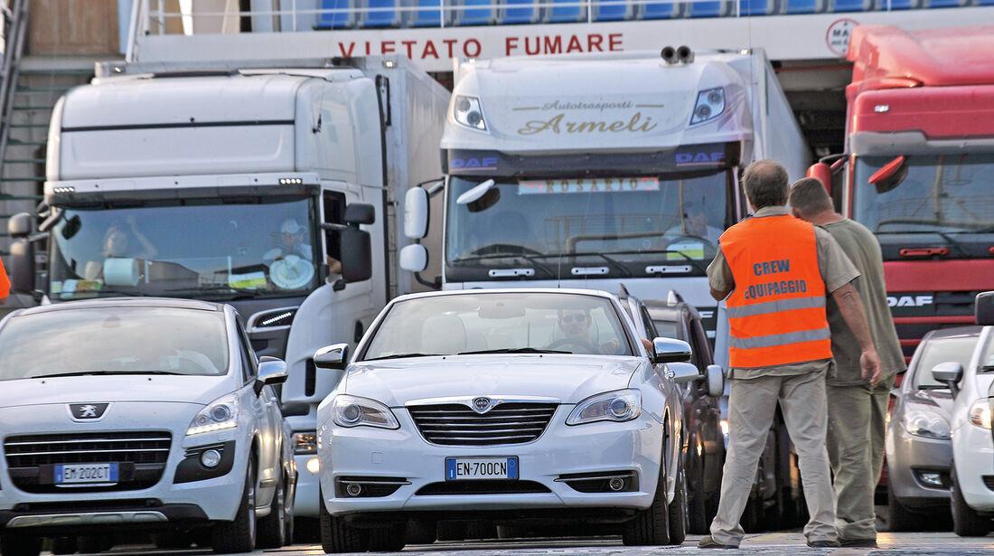 Lancia Flavia, Fähre