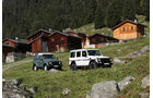 Land Rover Defender 90 TD4, Mercedes-Benz G 280 CDI Edition Pur vor Alpenhütten