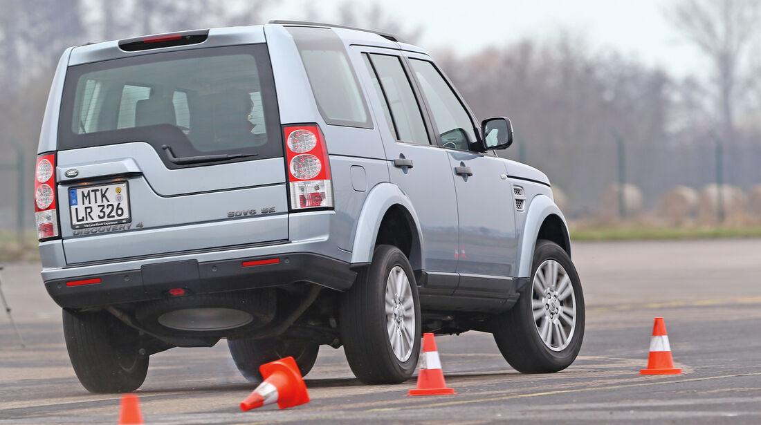 Land Rover Discovery, Heckansicht, Slalom