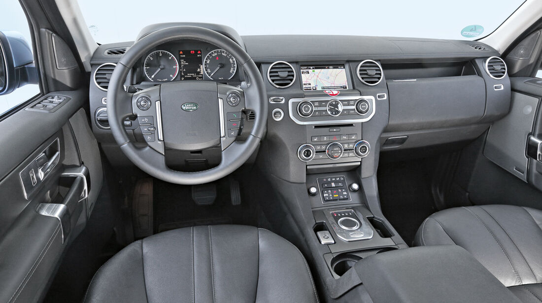 Land Rover Discovery SDV 6, Cockpit, Lenkrad