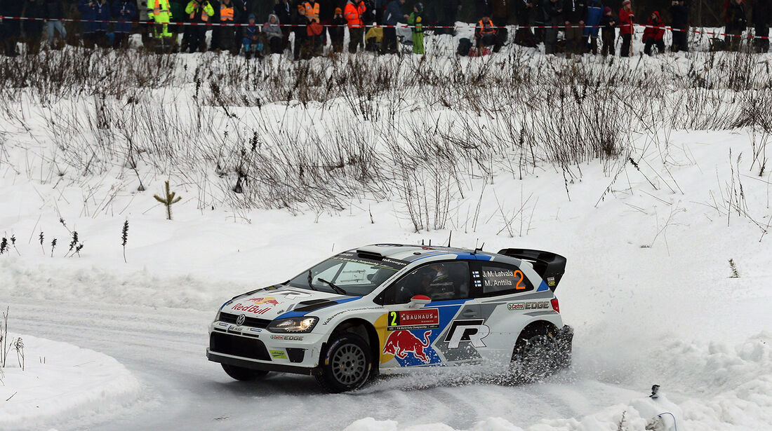 Latvala, VW Polo WRC, Rallye Schweden 2014