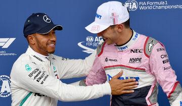 Lewis Hamilton & Esteban Ocon - GP Belgien 2018