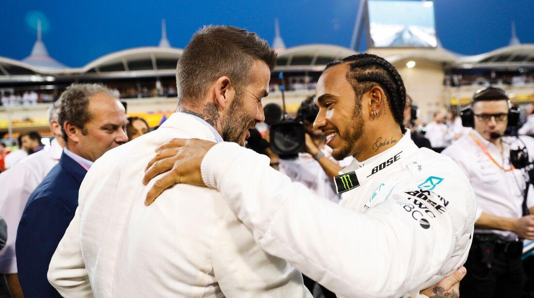 Lewis Hamilton - Mercedes - David Beckham - Formel 1 - GP Bahrain - 31. März 2019