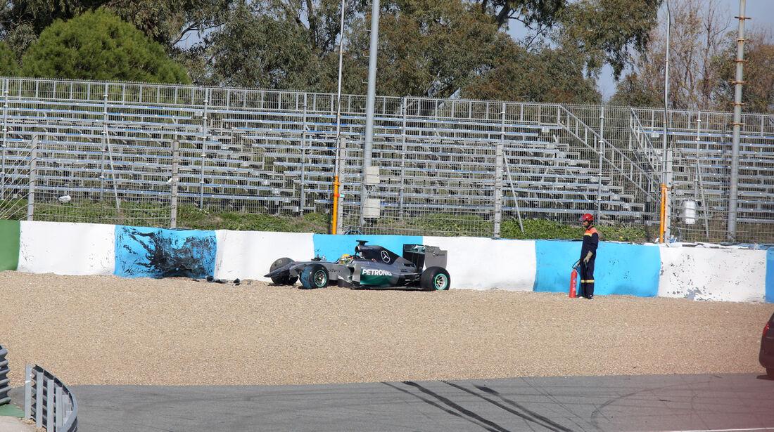 Lewis Hamilton - Mercedes - Formel 1 - Jerez-Test - 28. Januar 2014