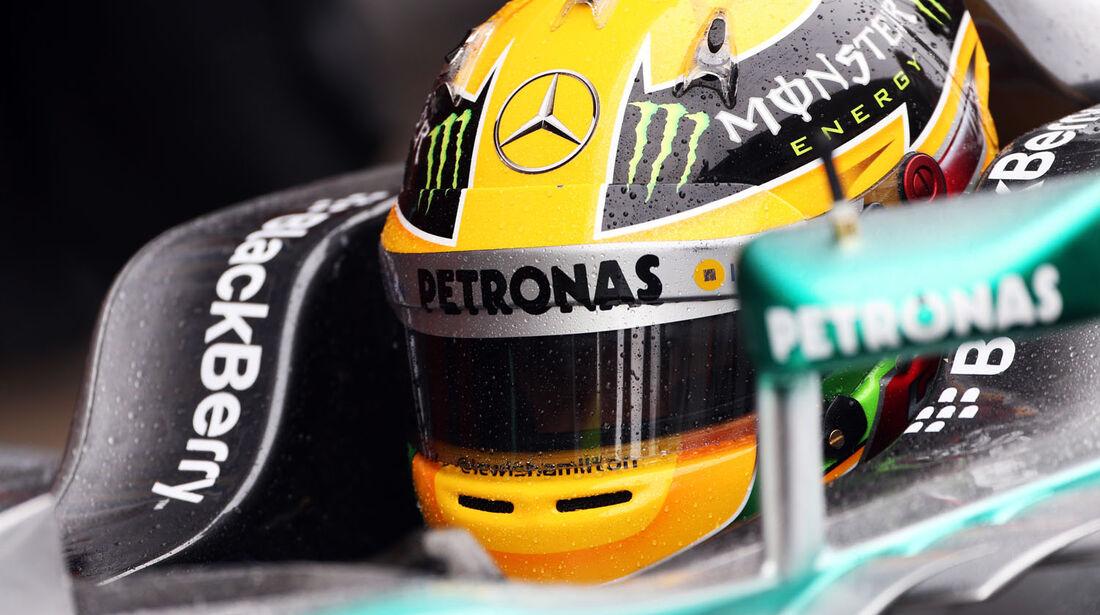 Lewis Hamilton, Mercedes, Formel 1-Test, Barcelona, 28. Februar 2013