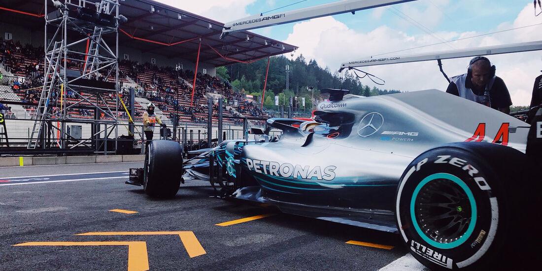 Lewis Hamilton - Mercedes - GP Belgien - Spa-Francorchamps - 24. August 2018