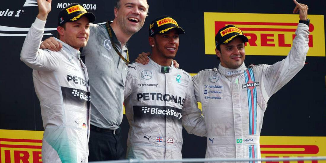 Lewis Hamilton - Nico Rosberg - Felipe Massa  - Formel 1 - GP Italien - 7. September 2014