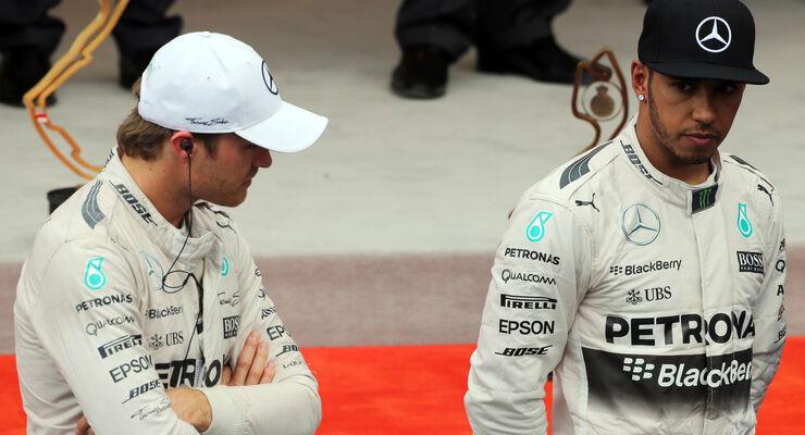 Lewis Hamilton - Nico Rosberg - GP Monaco - Formel 1 - 24. Mai 2015