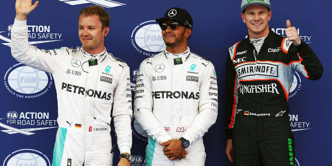 Lewis Hamilton - Nico Rosberg - Nico Hülkenberg - Formel 1 - GP Österreich - 2. Juli 2016