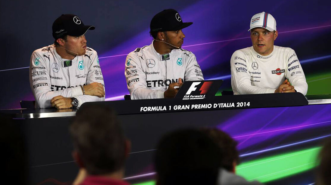 Lewis Hamilton - Nico Rosberg - Valtteri Bottas  - Force India - Formel 1 - GP Italien - 6. September 2014
