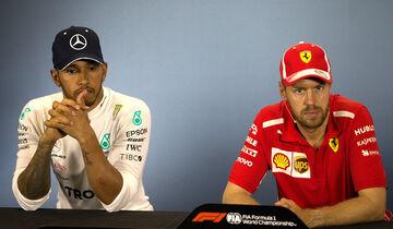 Lewis Hamilton & Sebastian Vettel - GP England 2018