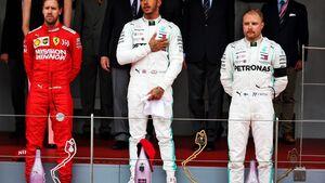 Lewis Hamilton - Sebastian Vettel - Vallteri Bottas - Formel 1 - GP Monaco - 26. Mai 2019