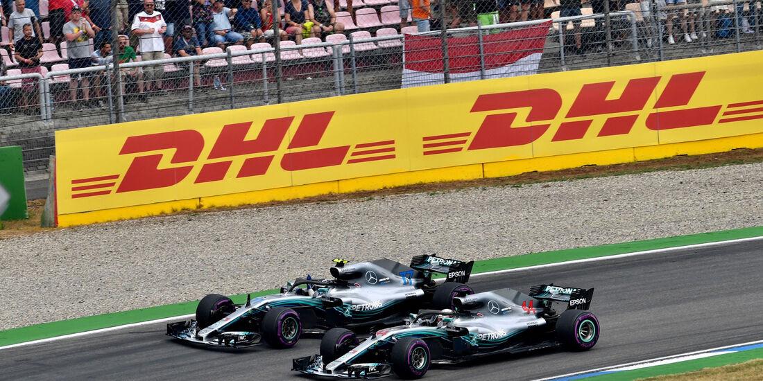 Lewis Hamilton - Valtteri Bottas - Mercedes - GP Deutschland 2018 - Rennen