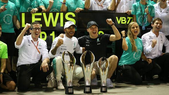 Lewis Hamilton - Valtteri Bottas - Mercedes - GP Singapur 2017 - Rennen