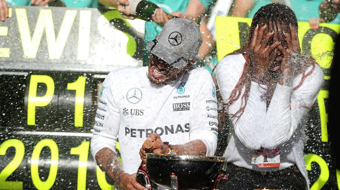 Lewis Hamilton & Venus Williams - GP USA 2016