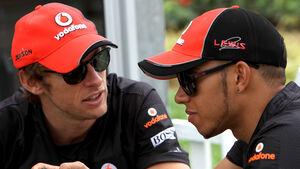 Lewis Hamilton  und Jenson Button