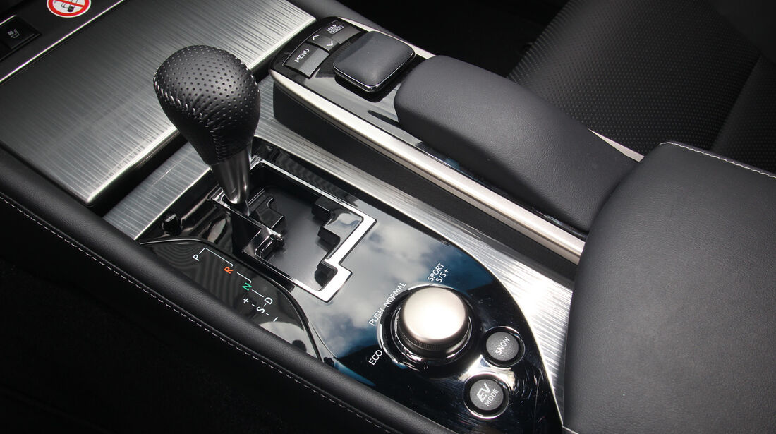 Lexus GS 450h F-Sport, Schalthebel, Schaltknauf