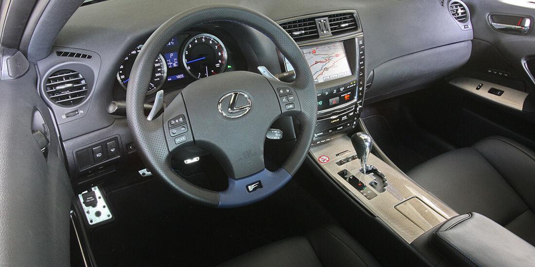 Lexus IS-F, Sportwagen, Cockpit
