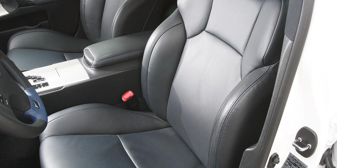 Lexus IS-F, Sportwagen, Fahrersitz