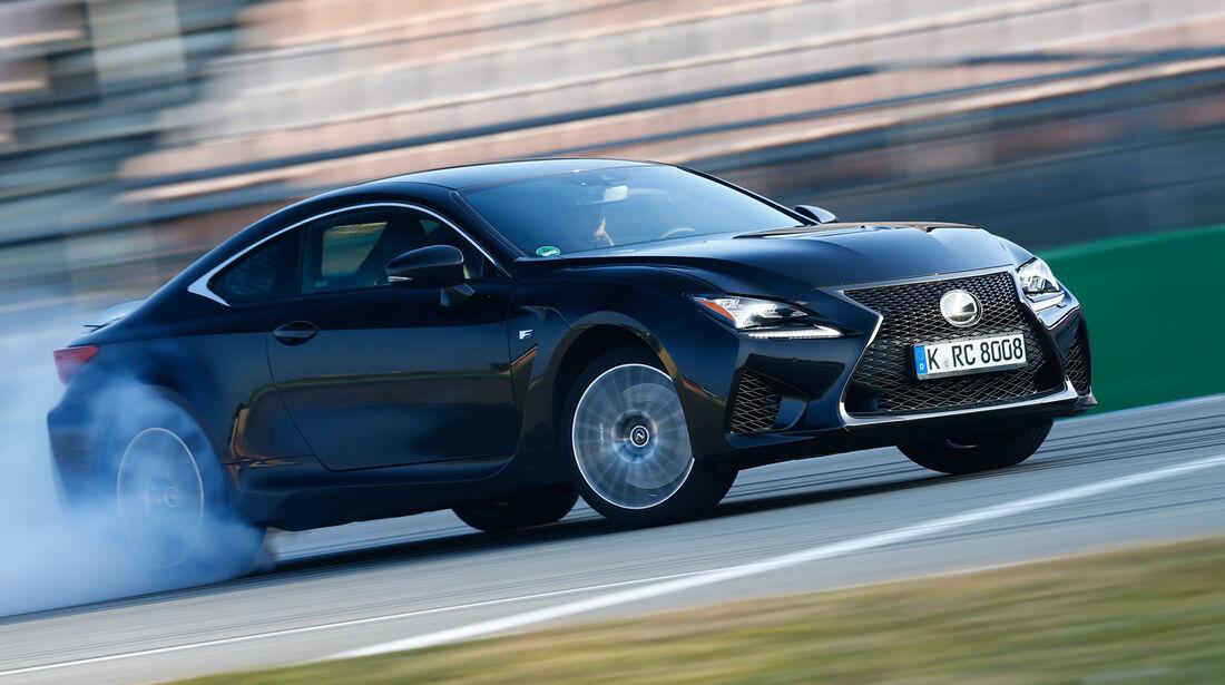 Lexus RC F, Seitenansicht, Driften