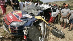 Loeb, Rallye Griechenland 2009 Unfall