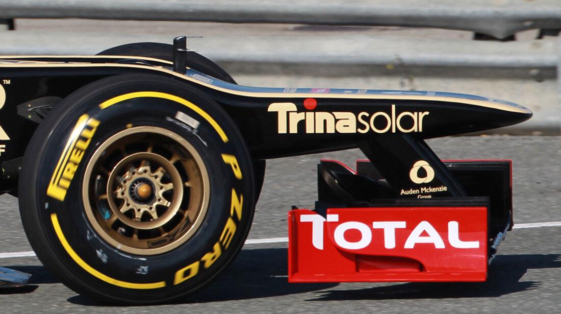 Lotus E20 Formel 1 Nase Jerez 2012
