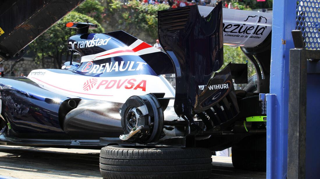 Maldonado Crash Monaco 2012
